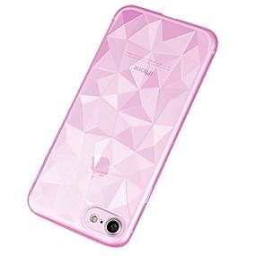 abordables Coques d'iPhone-Coque Pour Apple iPhone X / iPhone 8 Plus Translucide Coque Couleur Pleine / Formes Géométriques Flexible TPU pour iPhone X / iPhone 8 Plus / iPhone 8