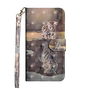 abordables Coques d'iPhone-Coque Pour Apple iPhone X / iPhone 8 Plus Portefeuille / Porte Carte / Avec Support Coque Intégrale Animal Dur faux cuir pour iPhone X / iPhone 8 Plus / iPhone 8