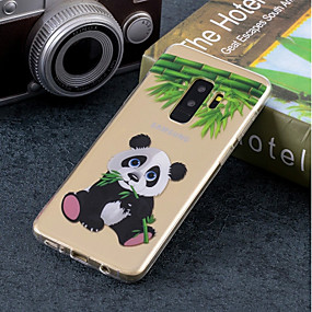 olcso Galaxy S tokok-Case Kompatibilitás Samsung Galaxy S9 Plus / S9 IMD / Minta Fekete tok Panda Puha TPU mert S9 / S9 Plus / S8 Plus