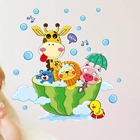 cheap Bathroom Gadgets-Stickers & Tapes / Bathroom Sticker New Design / Cartoon / Waterproof Distinguished / Cartoon / Modern PVC(PolyVinyl Chloride) 1pc