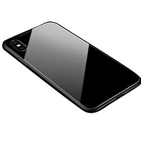 tanie Etui do iPhone-Kılıf Na Jabłko iPhone X / iPhone 8 Transparentny / Magnetyczne Osłona tylna Solidne kolory Twardość Aluminium na iPhone XS / iPhone XR / iPhone XS Max