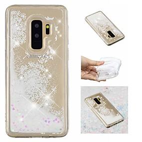 voordelige Galaxy S7 Edge Hoesjes / covers-hoesje Voor Samsung Galaxy S9 / S9 Plus / S8 Plus Stromende vloeistof / Patroon / Glitterglans Achterkant Glitterglans / Paardebloem Zacht TPU