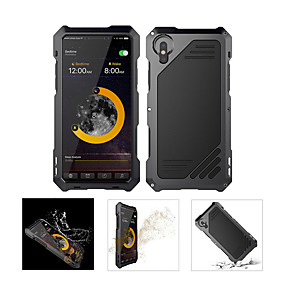 abordables Coques d'iPhone-Coque Pour Apple iPhone X Imperméable / Antichoc Coque Intégrale Armure Dur Métal pour iPhone XS / iPhone XR / iPhone XS Max