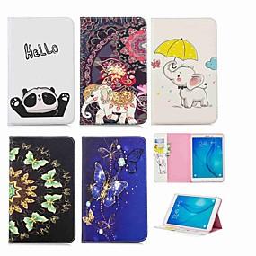 voordelige Galaxy Tab E 9.6 Hoesjes / covers-hoesje Voor Samsung Galaxy Tab E 9.6 Portemonnee / Kaarthouder / met standaard Volledig hoesje Olifant Hard PU-nahka