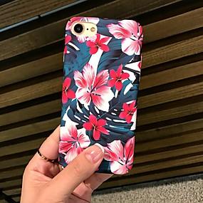 abordables Coques d'iPhone-cas pour apple iphone xr xs xs max givré / motif couverture arrière fleur dure pc pour iphone x 8 8 plus 7 7plus 6s 6s plus se 5 5s