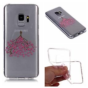 voordelige Galaxy S7 Hoesjes / covers-hoesje Voor Samsung Galaxy S9 / S9 Plus / S8 Plus IMD / Transparant / Patroon Achterkant Bloem Zacht TPU