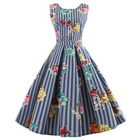 a7bb8e98af46 billige Daglige tilbud-Dame I-byen-tøj Vintage Bomuld Tynd Swing Kjole -