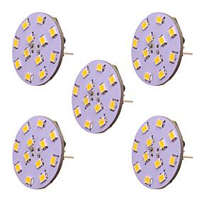 Недорогие Двухконтактные LED лампы-2w g4 светодиодная лампочка с двухконтактным светодиодом 12 smd 2835 dc ac 12 - 24v теплый / холодный белый (5 шт)