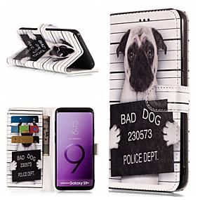 halpa Galaxy S -sarjan kotelot / kuoret-Etui Käyttötarkoitus Samsung Galaxy S9 Plus / S9 Lomapkko / Korttikotelo / Tuella Suojakuori Koira / Sana / lause Kova PU-nahka varten S9 / S9 Plus / S8 Plus