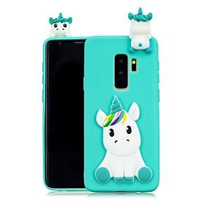 halpa Galaxy S -sarjan kotelot / kuoret-Etui Käyttötarkoitus Samsung Galaxy S9 Plus / S8 Plus DIY Takakuori Yksisarvinen Pehmeä TPU varten S9 / S9 Plus / S8 Plus