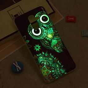 voordelige Galaxy J3 Hoesjes / covers-hoesje Voor Samsung Galaxy J8 / J7 (2017) / J7 (2016) Glow in the dark / IMD / Patroon Achterkant Uil Zacht TPU