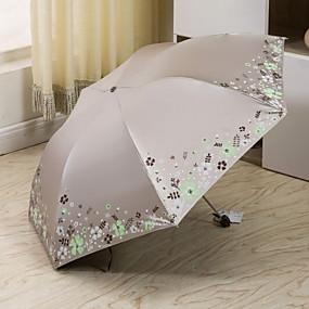 Недорогие Защита от дождя-Полиэстер / Нержавеющая сталь Все Очаровательный Складные зонты