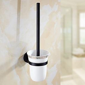 povoljno Gadgeti za kupaonicu-Držač wc četke New Design / Cool Suvremena Nehrđajući čelik / željezo 1pc Toilet Brush Holder Zidne slavine