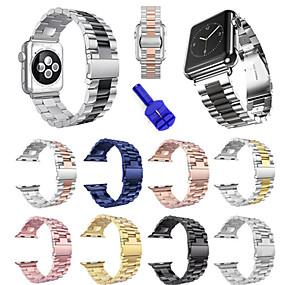 preiswerte Apple Watch Armbänder-Uhrenarmband für Apple Watch Series 4/3/2/1 Apple Sport Band Edelstahl Handschlaufe