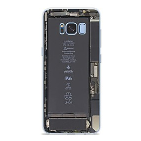 voordelige Galaxy S6 Edge Plus Hoesjes / covers-hoesje Voor Samsung Galaxy S9 / S9 Plus / S8 Plus Patroon Achterkant Tegel Zacht TPU