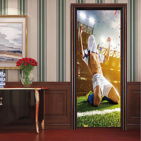 cheap Decoration Stickers-Door Stickers - 3D Wall Stickers Abstract / Famous Living Room / Bedroom