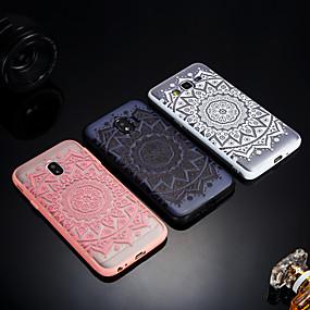 voordelige Galaxy J3 Hoesjes / covers-hoesje Voor Samsung Galaxy J8 / J7 V / J7 Prime Mat / Doorzichtig / Reliëfopdruk Achterkant Lace Printing Hard Acryl