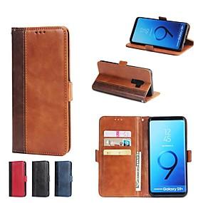 voordelige Galaxy S7 Edge Hoesjes / covers-hoesje Voor Samsung Galaxy S9 / S9 Plus / S8 Plus Portemonnee / Kaarthouder / met standaard Volledig hoesje Tegel Hard PU-nahka