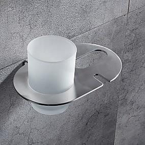 povoljno Gadgeti za kupaonicu-Držač četkica za zube New Design / Cool Moderna Nehrđajući čelik / željezo 1pc Četkica za zube i pomagala Zidne slavine