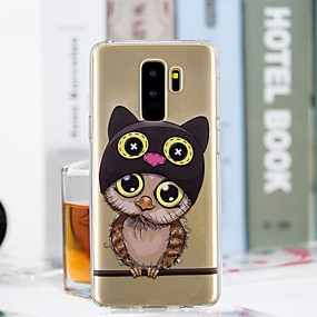 voordelige Galaxy S7 Hoesjes / covers-hoesje Voor Samsung Galaxy S9 / S9 Plus / S8 Plus Transparant / Patroon Achterkant Uil Zacht TPU