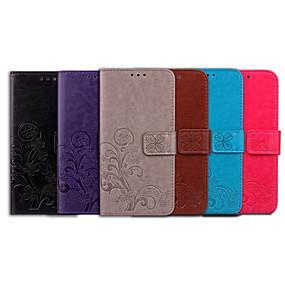 billige Nokia-Etui Til Nokia Nokia 2.1 Kortholder / Flipp Heldekkende etui Ensfarget / Mandala Myk PU Leather til Nokia 2.1