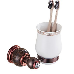 cheap Bathroom Gadgets-Toothbrush Holder New Design / Cool Contemporary Brass 1pc Toothbrush & Accessories Wall Mounted