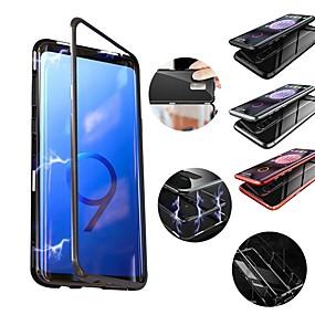 halpa Galaxy S -sarjan kotelot / kuoret-Etui Käyttötarkoitus Samsung Galaxy S9 Plus / S9 Iskunkestävä / Magneetti Takakuori Yhtenäinen Kova Metalli varten S9 / S9 Plus / S8 Plus