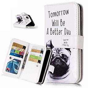 abordables Coques d'iPhone-Coque Pour Apple iPhone XR / iPhone XS Max Portefeuille / Porte Carte / Avec Support Coque Intégrale Chien Dur faux cuir pour iPhone XS / iPhone XR / iPhone XS Max