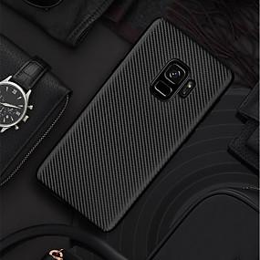 halpa Galaxy S -sarjan kotelot / kuoret-Etui Käyttötarkoitus Samsung Galaxy S9 Plus / S9 Ultraohut / Himmeä Takakuori Yhtenäinen Pehmeä Hiilikuitu varten S9 / S9 Plus / S8 Plus