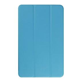 voordelige Galaxy Tab E 9.6 Hoesjes / covers-hoesje Voor Samsung Galaxy Tab E 9.6 met standaard Volledig hoesje Effen Hard PU-nahka