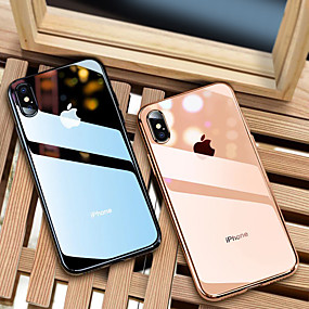 abordables Coques d'iPhone-Coque Pour Apple iPhone 8 / iPhone XS Max Plaqué / Ultrafine / Translucide Coque Couleur Pleine Flexible TPU pour iPhone XS / iPhone XR / iPhone XS Max