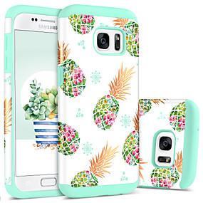 halpa Galaxy S -sarjan kotelot / kuoret-BENTOBEN Etui Käyttötarkoitus Samsung Galaxy S7 Iskunkestävä / Kuvio Takakuori Hedelmä Kova PC / silikageeli varten S7