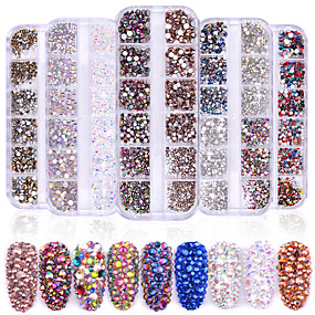 cheap Makeup & Nail Care-1440 pcs Classic / High Transparency Rhinestone Nail Jewelry Rhinestones For Finger Nail Wedding Ball nail art Manicure Pedicure Party / Evening / Daily / Engagement Party Artistic / Aristocrat Lolita