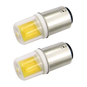 abordables Luces LED de Doble Pin-2.5w ba15d mini bombilla led cubierta de vidrio 1511 mazorca de CA 220 v / ca 120 v fría / caliente blanco doble bayoneta máquina de coser (2 piezas)