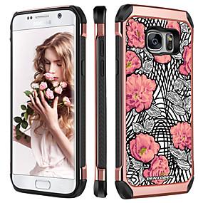 voordelige Galaxy S7 Hoesjes / covers-BENTOBEN hoesje Voor Samsung Galaxy S7 Schokbestendig / Beplating / Patroon Achterkant Planten / Bloem Hard TPU / PC voor S7