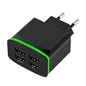 olcso Google-Hordozható töltő USB töltő EU konnektor Több csatlakozós 4 USB port 4 A DC 5V mert