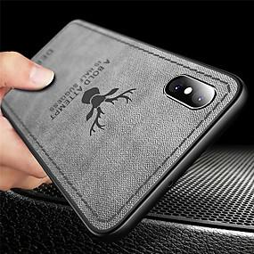 olcso iPhone tokok-Case Kompatibilitás Apple iPhone XR / iPhone XS Max Ultra-vékeny / Dombornyomott Fekete tok Állat Puha TPU mert iPhone XS / iPhone XR / iPhone XS Max