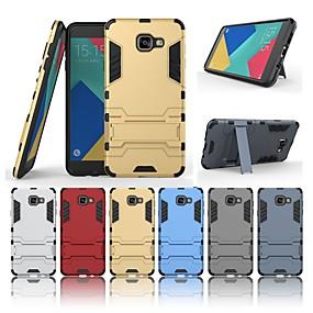 voordelige Galaxy A7(2016) Hoesjes / covers-hoesje Voor Samsung Galaxy A7(2016) Schokbestendig / met standaard Achterkant Effen Hard PC