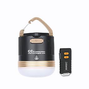 olcso Zseblámpák-CC3 Lámpások & Kempinglámpák Sürgősségi fények LED izzók Kettős LED LED 2 Sugárzók 550 lm 5 világítás mód akkuval Hordozható Távirányító LED Kempingezés / Túrázás / Barlangászat Mindennapokra Meleg