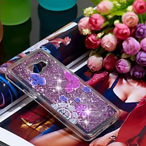 voordelige Galaxy A3(2016) Hoesjes / covers-hoesje Voor Samsung Galaxy A3(2016) Schokbestendig / Glitterglans Achterkant Vlinder / Glitterglans Zacht TPU