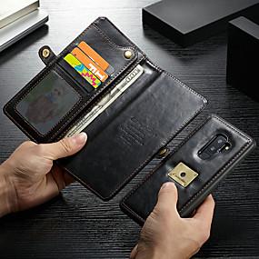 halpa CaseMe®-CaseMe Etui Käyttötarkoitus Samsung Galaxy S9 Plus Lomapkko / Korttikotelo / Iskunkestävä Suojakuori Yhtenäinen Kova PU-nahka varten S9 Plus