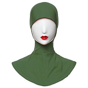 billige Tørklæder og sjaler-Dame Basale Hijab - Polyester Delt, Ensfarvet / Alle årstider