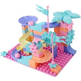 olcso Játékok & hobbi-Építőkockák Építési készlet játékok Fejlesztő játék 76 pcs Kreatív összeegyeztethető Legoing Átlátszó matrica Enyhíti ADD, ADHD, a szorongás, az autizmus Szülő-gyermek interakció Összes Fiú Lány