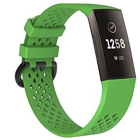 Χαμηλού Κόστους Λουράκια καρπού για Fitbit-Παρακολουθήστε Band για Fitbit Charge 3 Fitbit Αθλητικό Μπρασελέ / Κλασικό Κούμπωμα σιλικόνη Λουράκι Καρπού