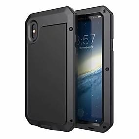 ราคาถูก เคสสำหรับ iPhone-กรณีสำหรับ apple iphone xr xs xs max น้ำ / ดิน / ช็อกหลักฐานร่างกายเต็มรูปแบบกรณีเกราะฮาร์ดอลูมิเนียมสำหรับ iphone x 8 8 พลัส 7 7 พลัส 6 วินาที 6 วินาทีบวก se 5 5 วินาที