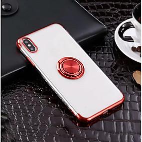 olcso iPhone tokok-alma iphone xr xs xs max gyűrűtartó / ultra-vékony hátsó borító tömör színű puha tpu az iphone x 8 8 és 7 7plus 6s 6s plus se 5 5s