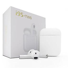 رخيصةأون وصل حديثاً-Factory OEM i9S لاسلكي بلوتوث Headphones سماعة ABS + PC EARBUD سماعة ستيريو سماعة