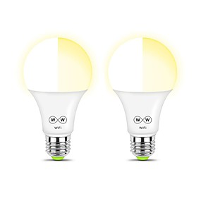 levne LED Smart žárovky-ZDM® 2pcs 6.5 W 600-650 lm E26 / E27 LED chytré žárovky A60(A19) 30 LED korálky SMD 5050 Smart / Kontrola APP / Nový design Teplá bílá / Chladná bílá / Přirozená bílá 100-240 V / RoHs