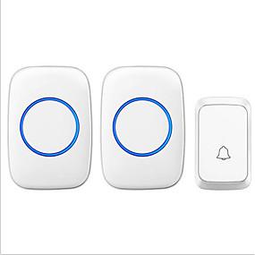 billige Dørklokke Systemer-ny trådløs en til to dørklokke musik ding dong ikke-visuel dørklokke overflade monteret hvid og sort adgang dc dørklokke