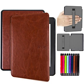 billige Kindle-tilbehør-Etui Til Amazon Kindle PaperWhite 4 Stødsikker / Auto Sove / Vågne Fuldt etui Ensfarvet Hårdt PU Læder for Kindle PaperWhite 4